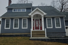 GAF 50 year roof: Pewter Gray KingWall and Board and Batten: Slate