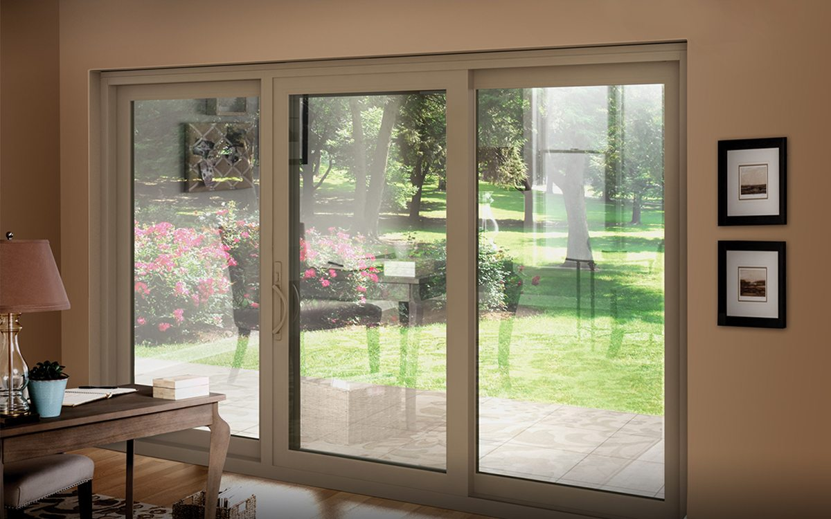 Luxury Tan Sliding Patio Door