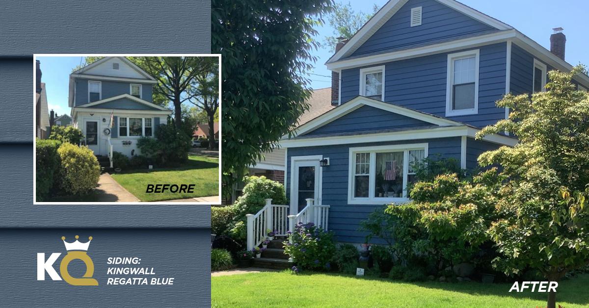 Blue summery skies to match this beautiful Regatta Blue home<br /> KingWall: Regatta Blue