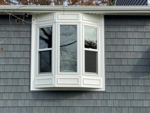 Bow window with azek trim